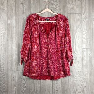 Lucky Brand Blouse with Button Detail
